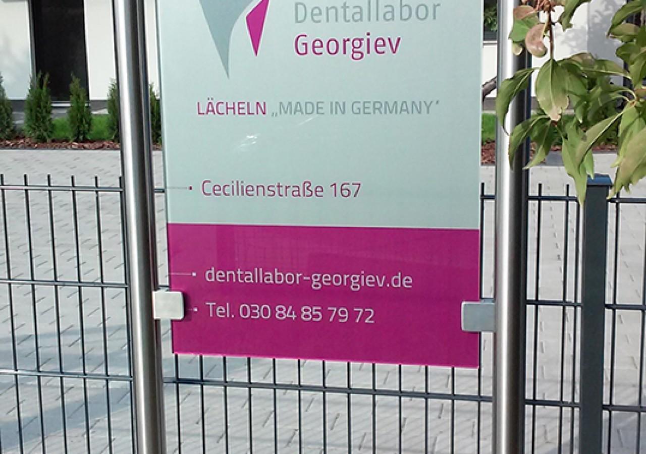 Schild für Dentallabor