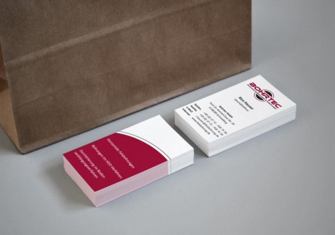 Vorder- und Rückseite Visitenkarten Design