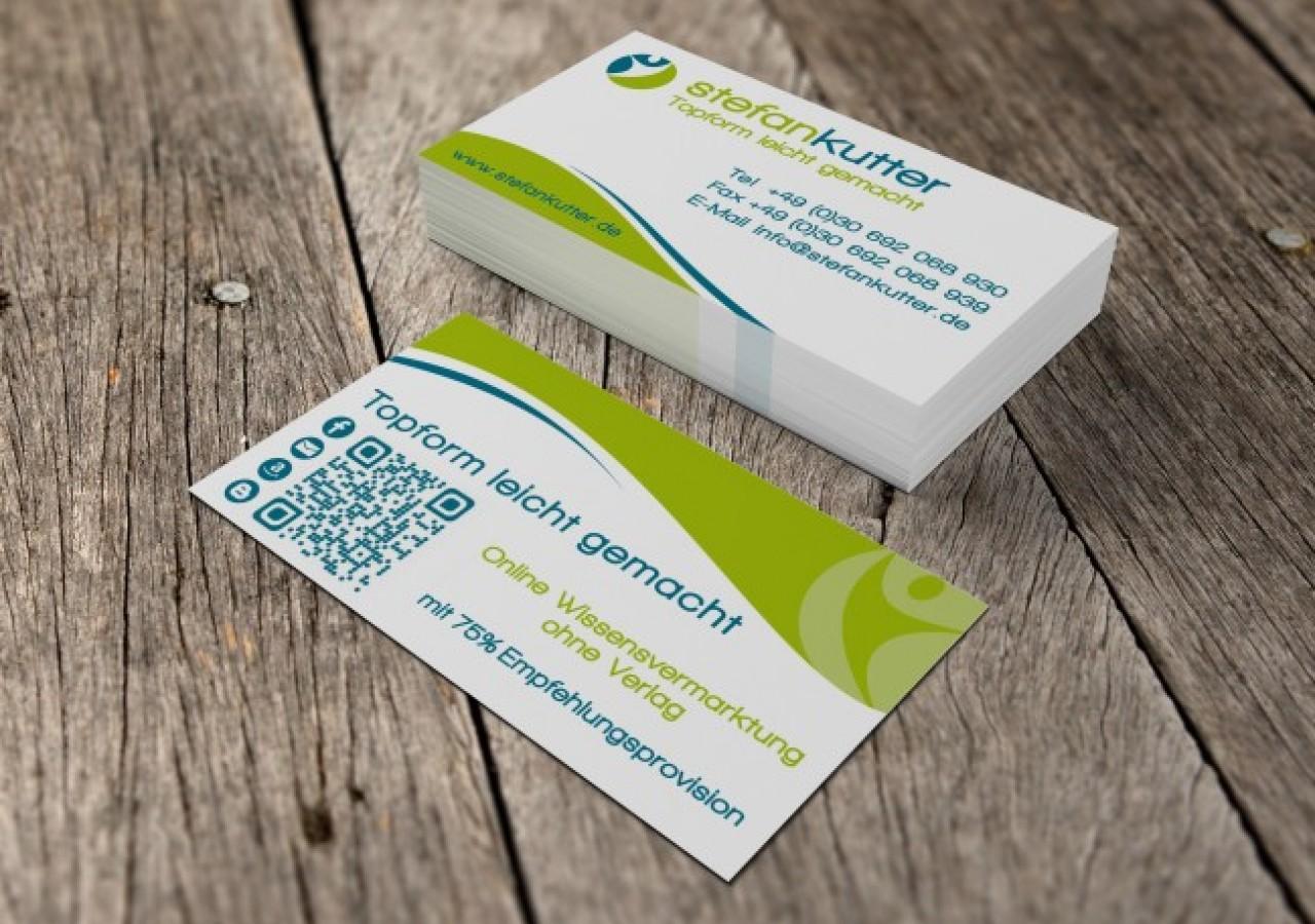 Visitenkarten Gestaltung für Ernährungsberater