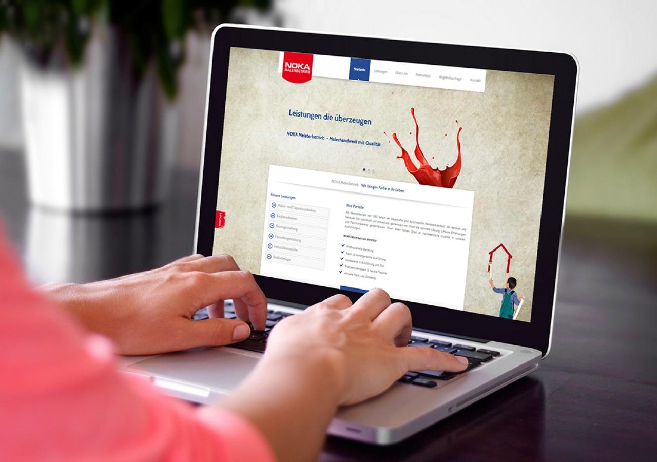 Wordpress Website für Malerbetrieb