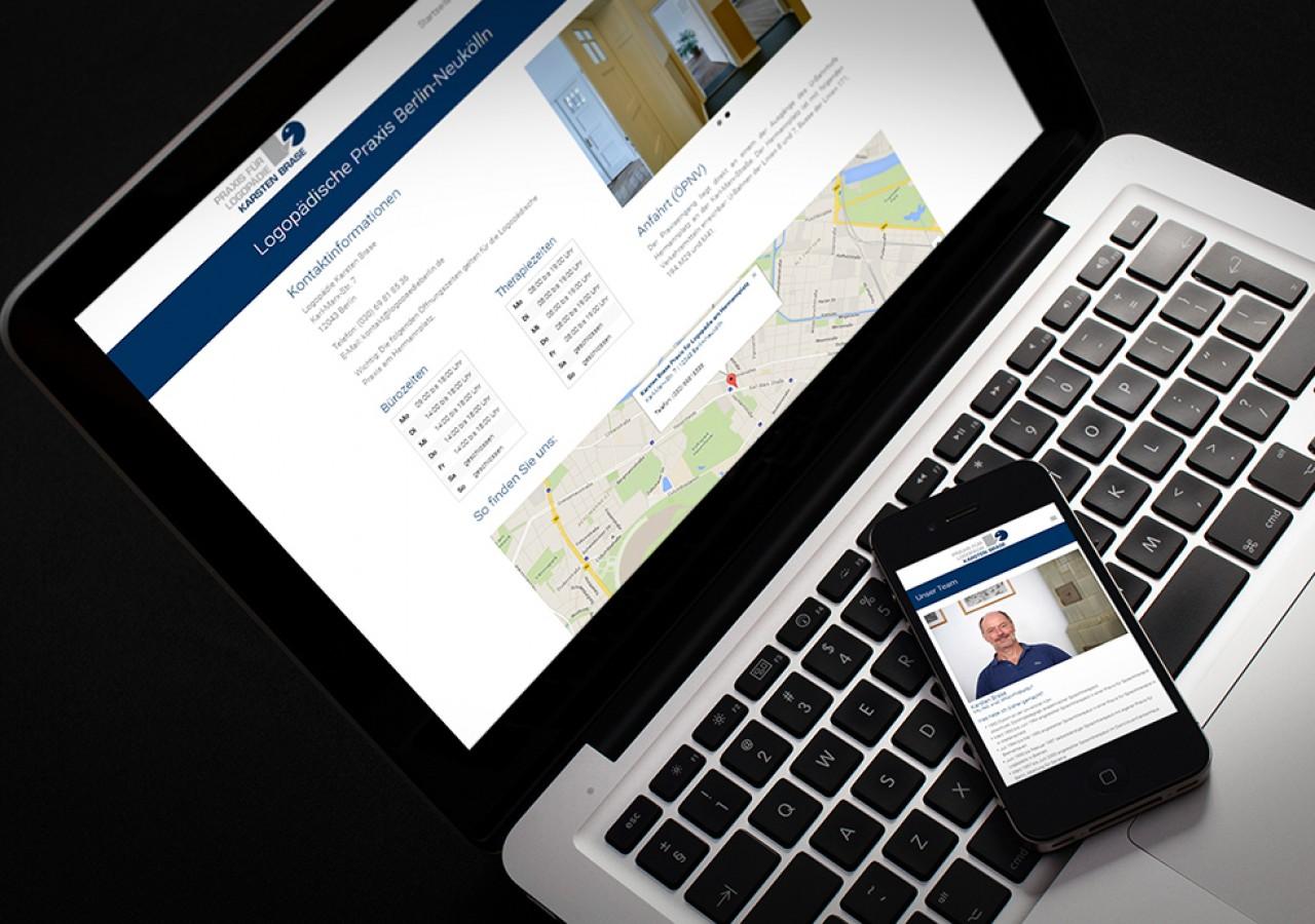 Logopädie Website mobile Ansichten