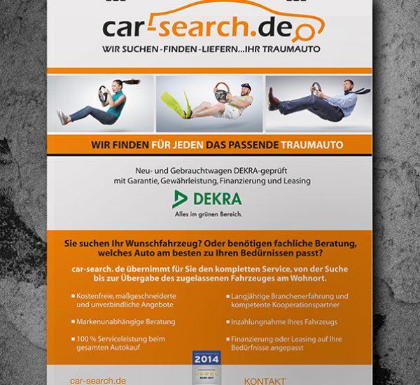 Postergestaltung – Car Search