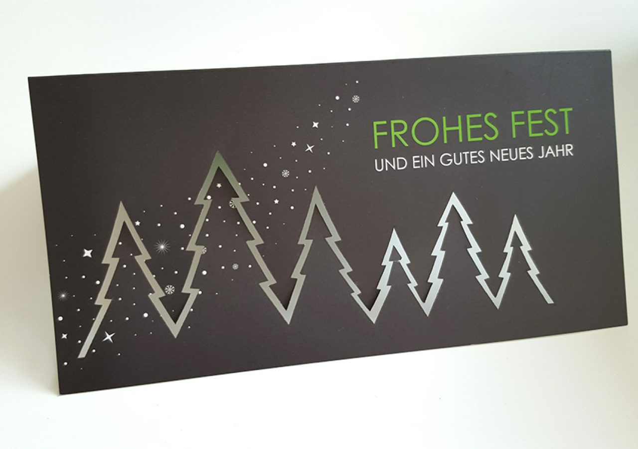 Weihnachtskarte Design Lasercut