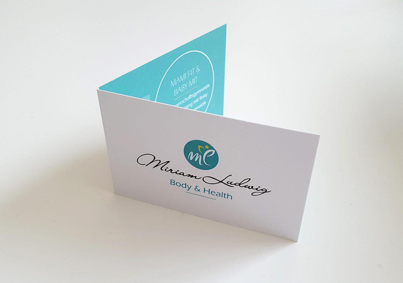 aufklappbare Visitenkarten Design