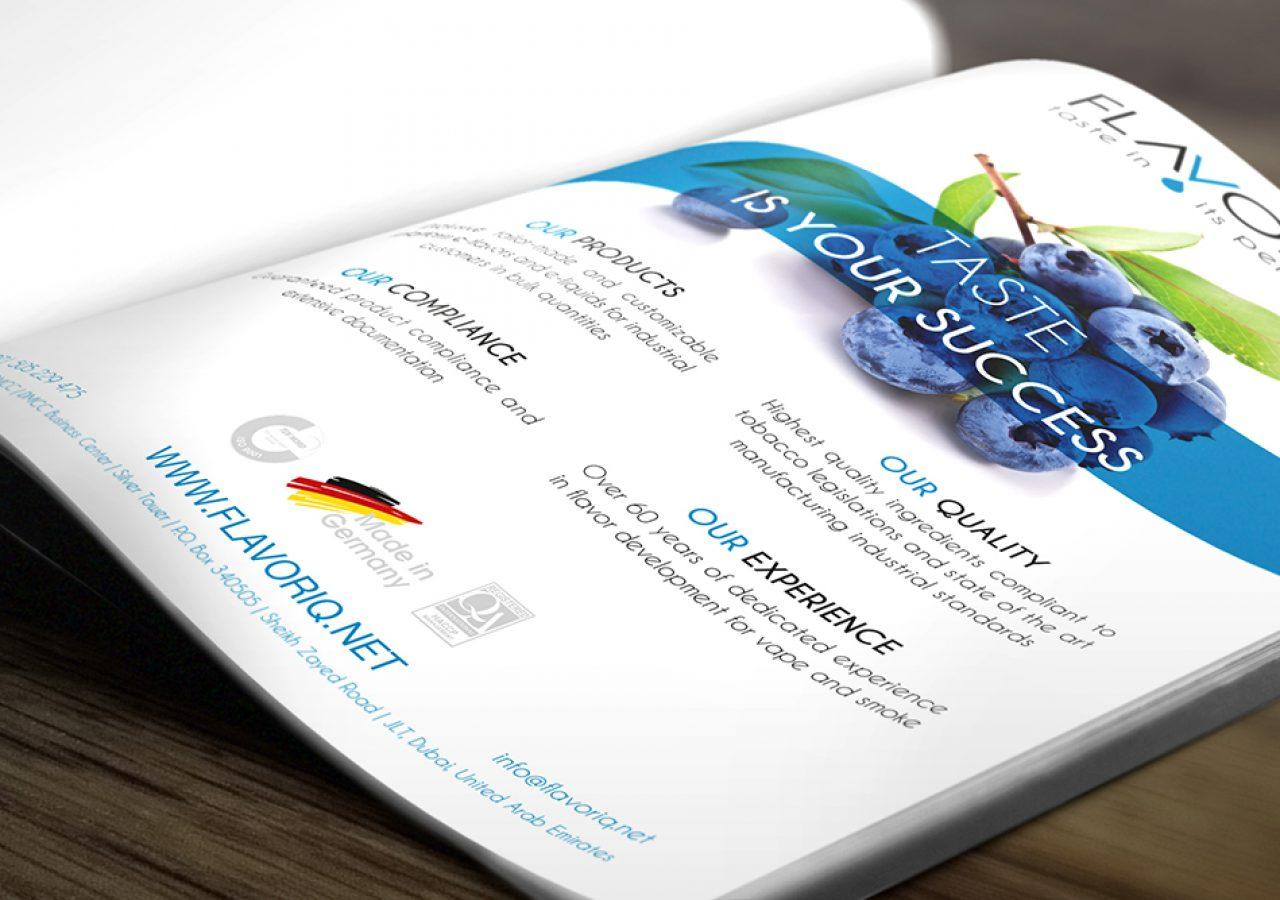Design für Printanzeige