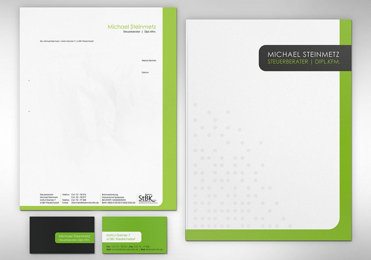 Design der Geschäftsausstattung für Steuerberater