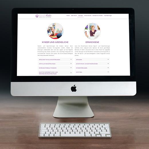 Website Erstellung – Logopädie Kerstin Klein