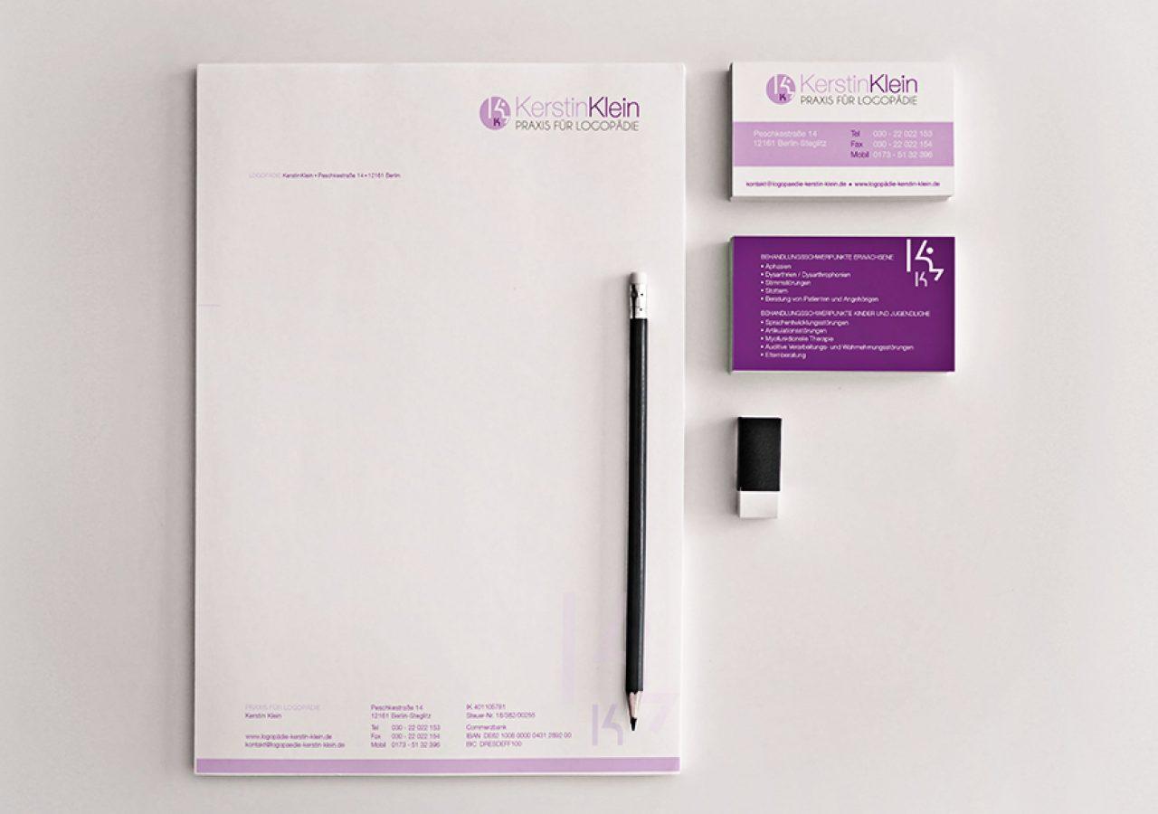 Design Geschäftsausstattung Logopädie Designagentur