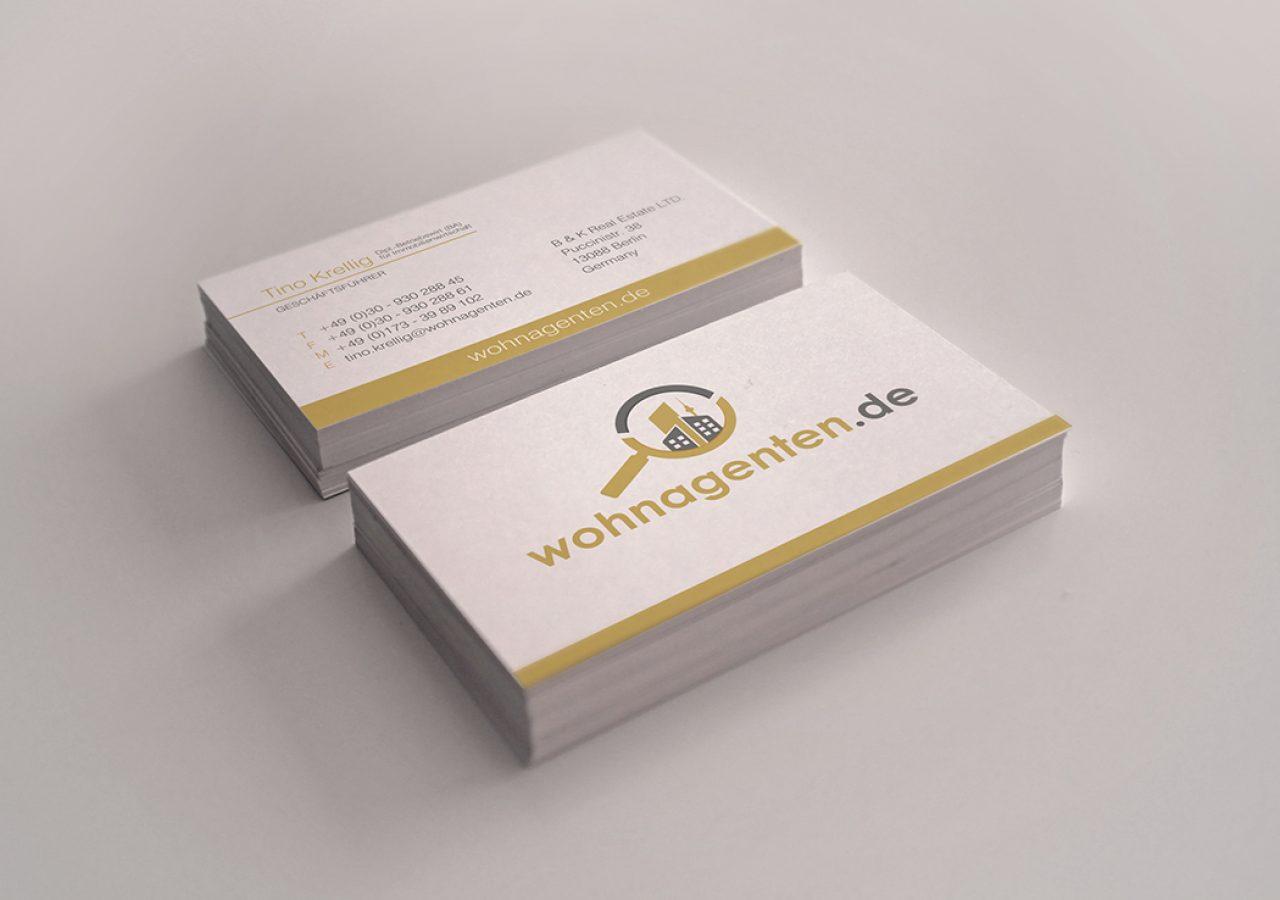 Visitenkarten Design für Wohnagenten Berlin