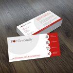 Design DIN lang Flyer für Global Mobility Service