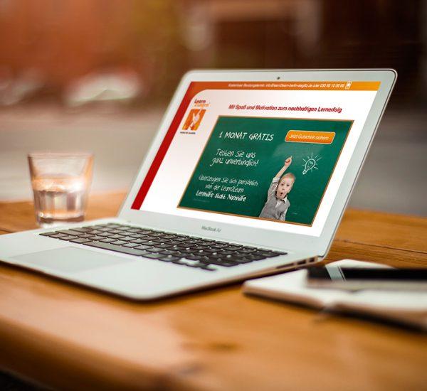 Landingpage Gestaltung – Learn2Learn Steglitz