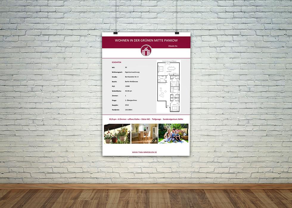 Plakatgestaltung – TIMA Immobilien
