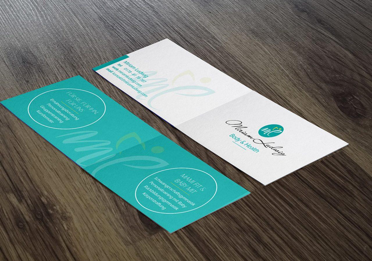 Gestaltung aufklappbare Visitenkarten