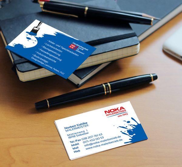 Visitenkarten – NOKA Malerbetrieb