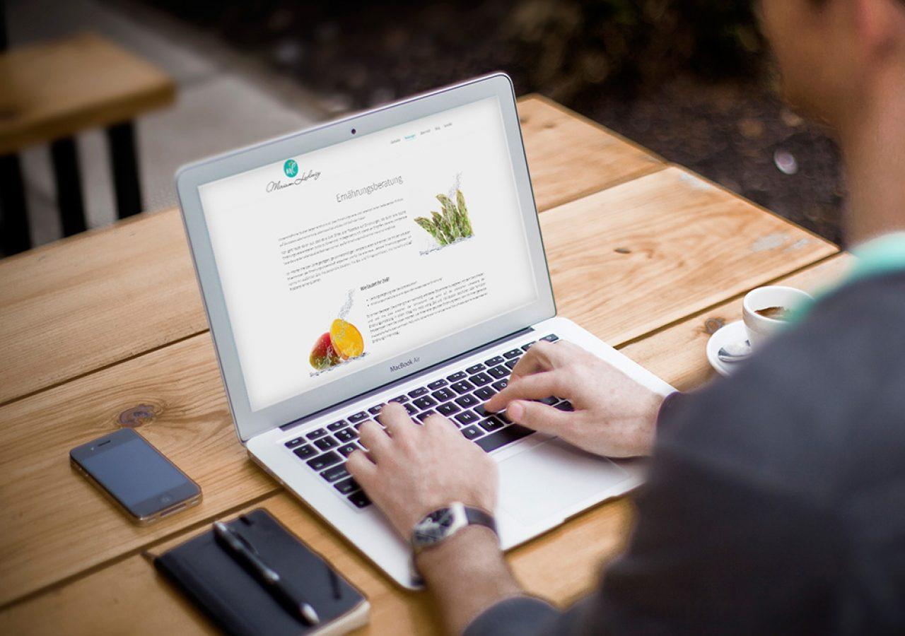 Wordpress Website für Ernährungsberaterin