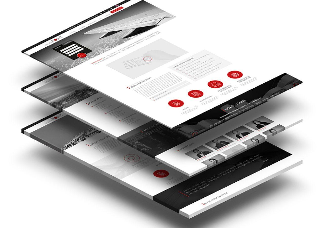 Visumpoint modernes Webdesign