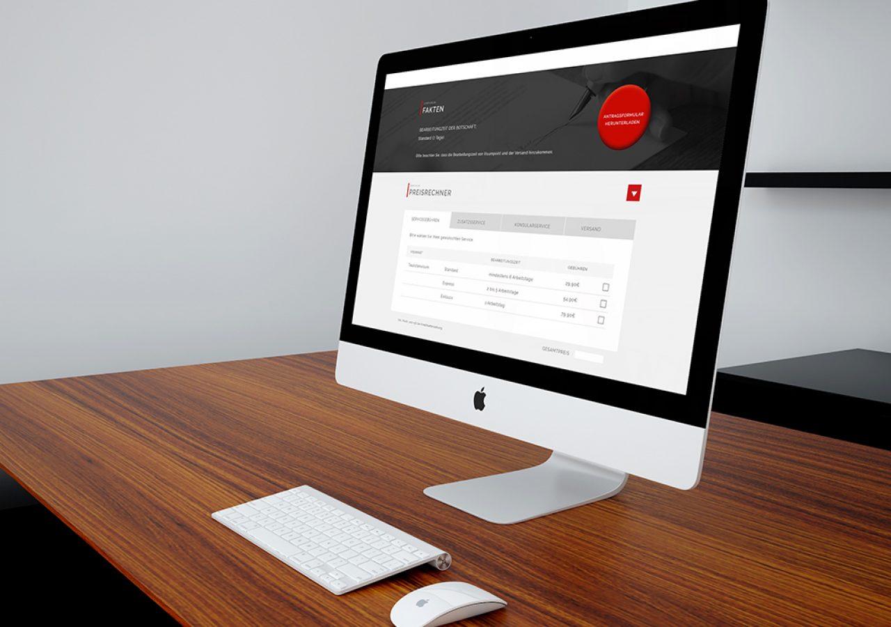 Visumpoint Webauftritt Design