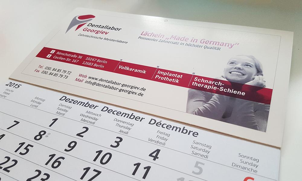Kalender  – Dentallabor Georgiev
