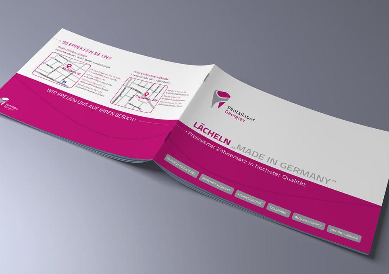 Broschüre für Dentallabor