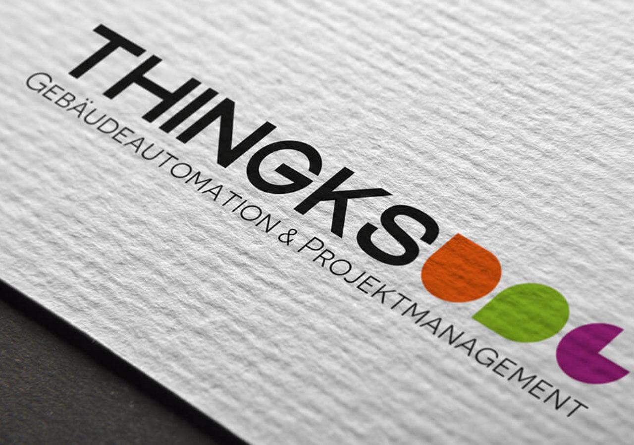Logogestaltung von Thingks Gebäudeautomation