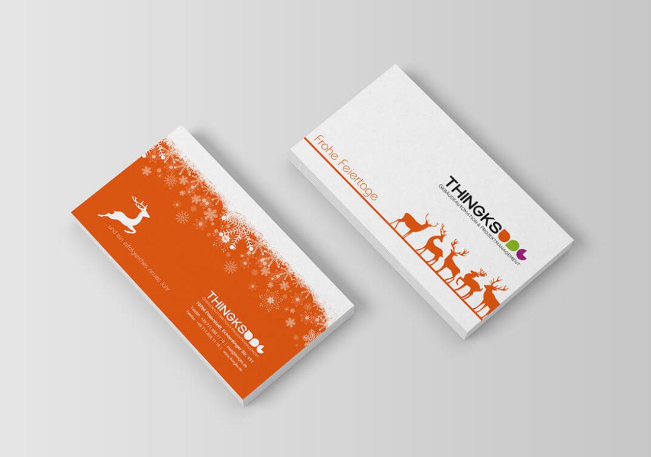 Design für Weihnachtskarten