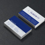 Visitenkarten Design mit partieller Lackierung