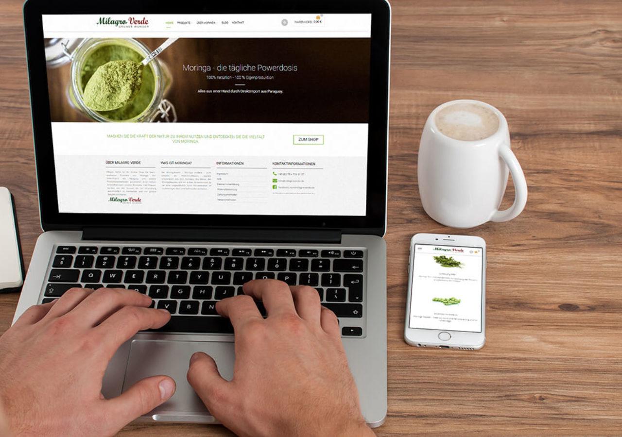 mobile Ansichten eines Online-Shops