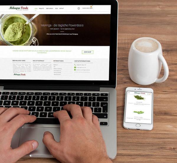 Website Erstellung – Milagro Verde