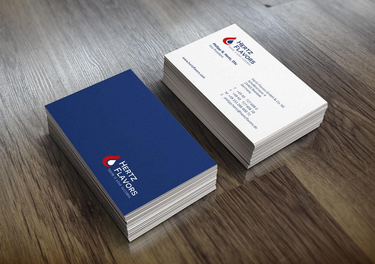 Vorder- und Rückseite Visitenkarten