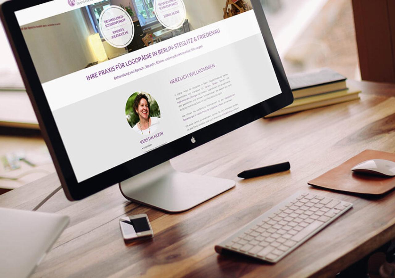 Website der logopädischen Praxis Kerstin Klein in Berlin