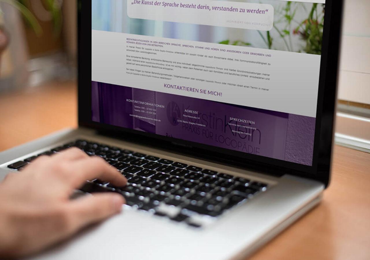 Website der Logopädie Kerstin Klein