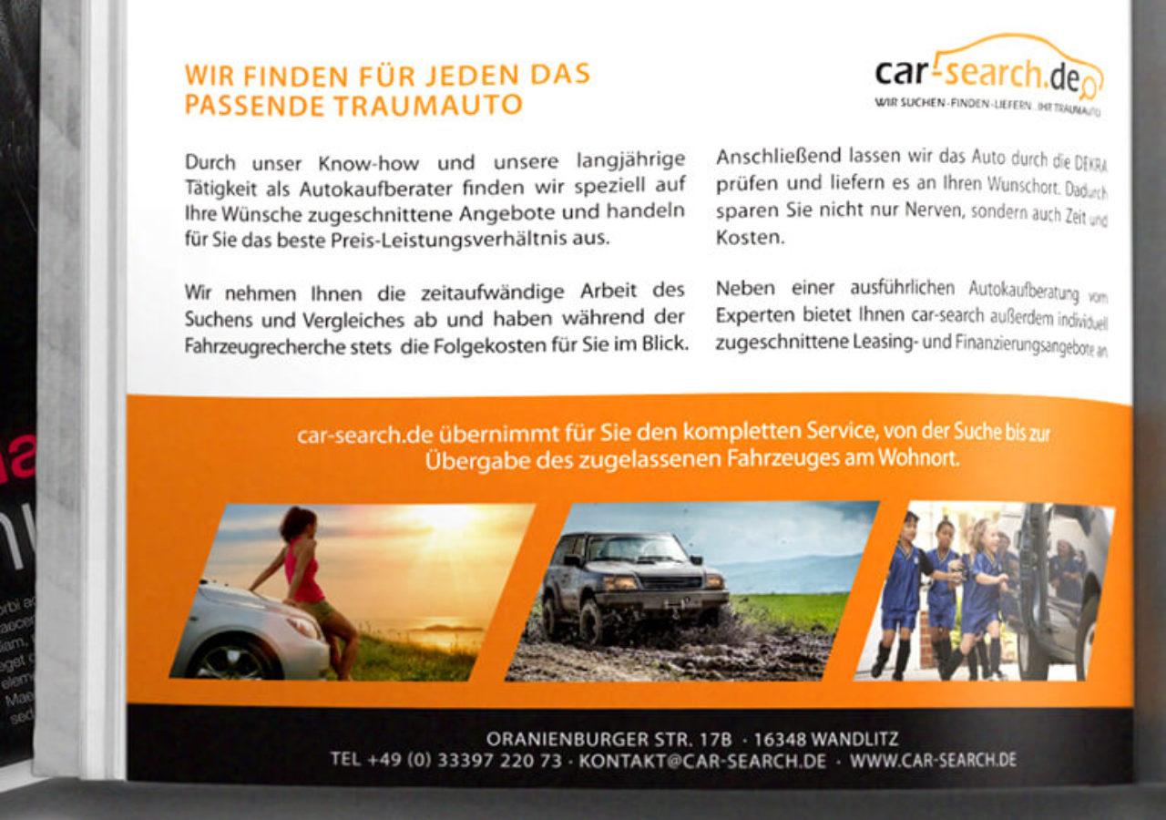 Printwerbung Design für Autokaufberater