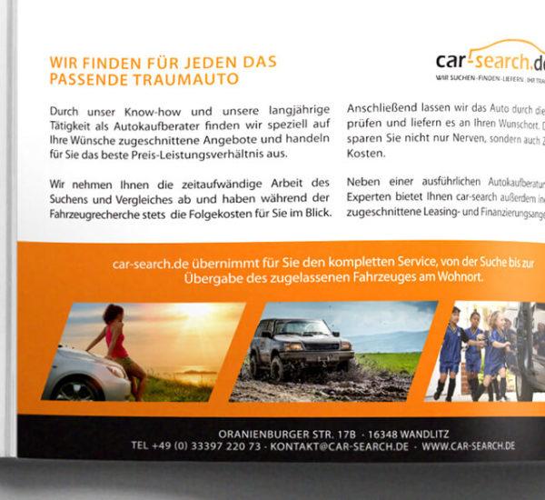 Printanzeige – car search