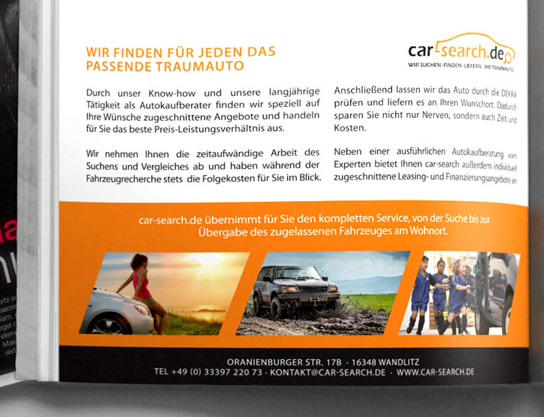 Printanzeige – car search