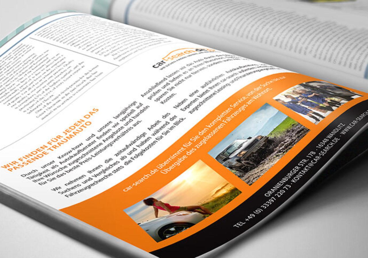 Designagentur Printanzeige für Autokaufberater