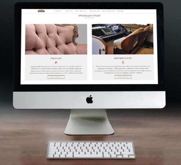Webdesign für Polsterei