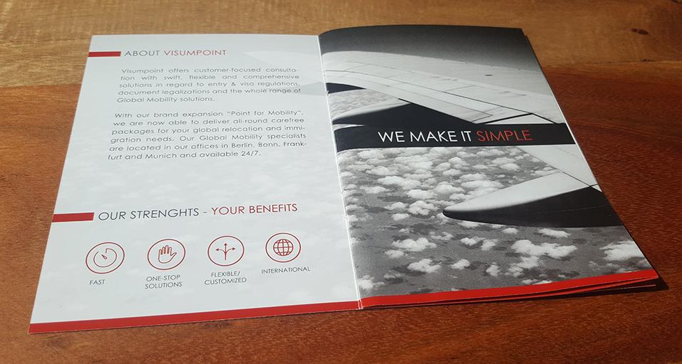 Reisepass Unternehmensbroschüre – Visumpoint