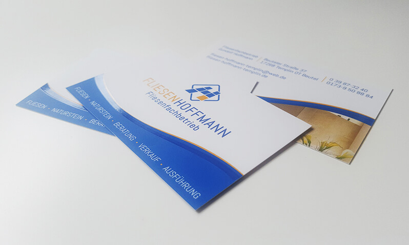 Visitenkarten Design – Fliesen Hoffmann