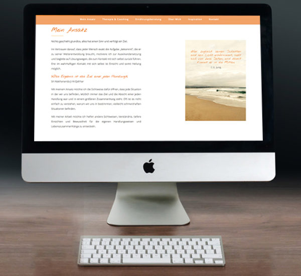 WordPress Website – Coaching & Therapie