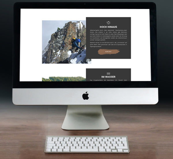 Outdoortraining – WordPress Onepager