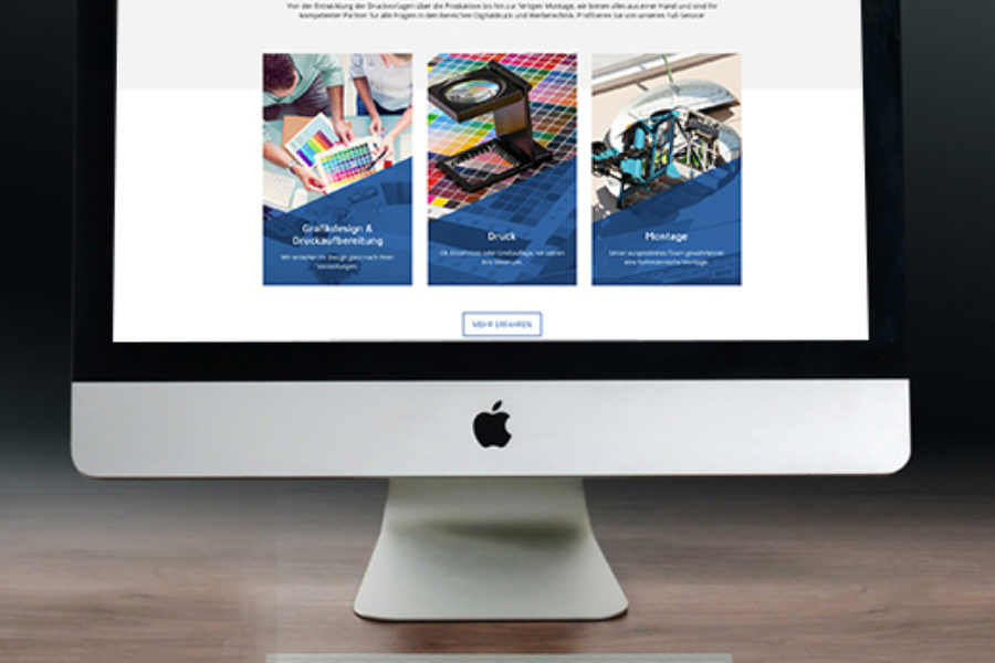 WordPress Website – Druckerei & Werbetechnik