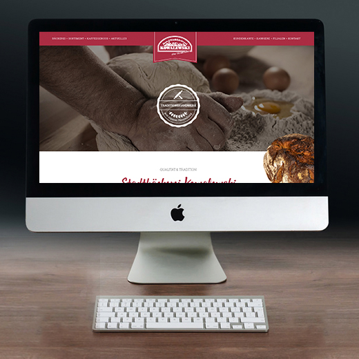 Webdesign – Bäckerei